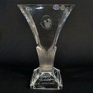 Vaso Cristal Tcheco Bohemia Troféu Maringá Golf Club Campeã