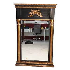 Espelho Francês Em Cristal Bisotê 132x86cm