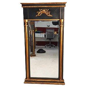 Espelho Francês Em Cristal Bisotê 160x84cm