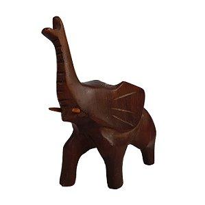 Escultura Elefante Em Madeira Maciça