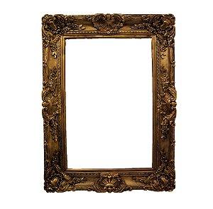 Moldura Dourada em Madeira Estilo Luis xv 120x89cm