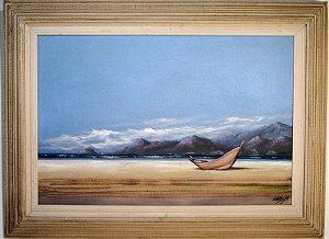 Quadro Pintura a Óleo Marinha - Vargas 56x87cm