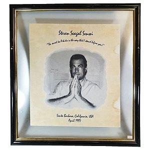 Quadro Steven Seagal Sensei St. Barbara CA USA Abril 1997