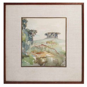 Pintura Aquarela - Guido Viaro 30x30cm