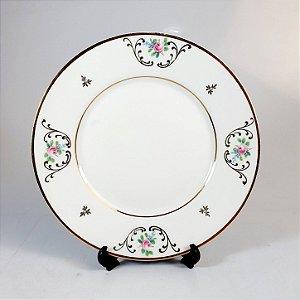 Prato Decorado em Porcelana Maua Floral