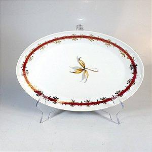 Travessa em Porcelana Schmidt Decorado em Flores