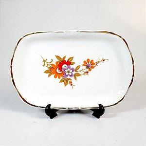Mini Travessa em Porcelana Steatira Floral