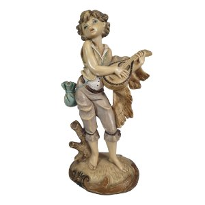 Escultura Bibelô Figura Em Resina Italiana 16cm