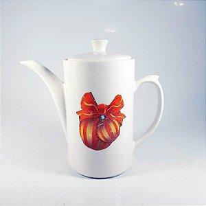 Bule Para Chá em Porcelana Decorado