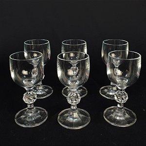Conjunto 6 Taças para Licor Em Cristal Diamante