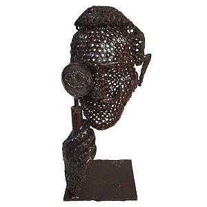 Escultura Em Ferro Arte Rústica 58cm - Mario Pascioniki