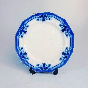 Prato em Porcelana Royston Borrão Cobalto