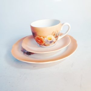 Jogo Em Porcelana Pintada À Mão Xícara De Café