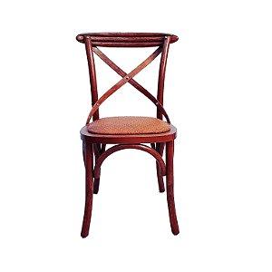 Cadeira Design Madeira E Aço