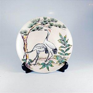 Prato em Porcelana Pintado a Mão Gansos
