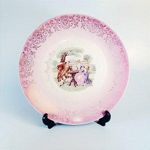 Prato Decorativo de Parede em Porcelana Cena Galante