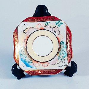 Mini Prato Decorativo em Porcelana Decorado