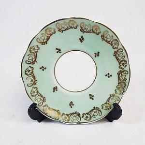 Pires em Porcelana Schmidt Filetado em Ouro