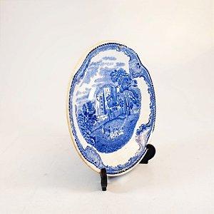 Prato Decorativo em Porcelana Inglês 80 Anos