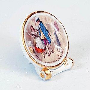 Mini Prato Decorativo em Porcelana Alemão Decorado