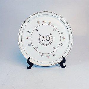 Prato Decorativo em Porcelana Schmidt 50 Anos