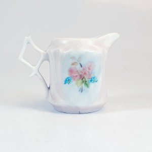 Mini Leiteira em Porcelana Pintada a Mão