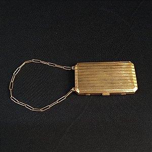 Porta Maquiagem Banhado À Ouro 1924