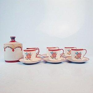 Jogo de Xícara para Café em Porcelana Japonesa Casca de Ovo
