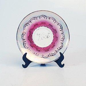 Prato Decorativo em Porcelana Real Você Filetada