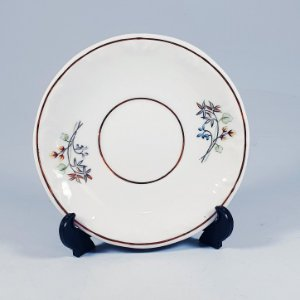 Pires em Porcelana Schmidt Filetado a Ouro Floral