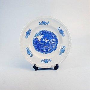 Prato de Sobremesa em Porcelana Porto Ferreira Decorado