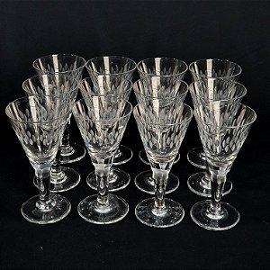 Jogo 12 Taças para Licor Em Cristal Hering