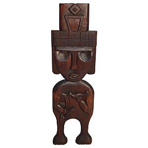 Escultura em Madeira - Deus dos Pássaros L.W.S