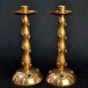 Par Castiçal Valeiro em Bronze