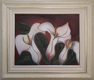 Quadro Pintura a Óleo Tulipas - J.W 2000 (62 x 72)