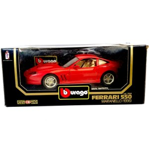 Miniatura Ferrari 550 Maranello 1996 Burago Diamonds