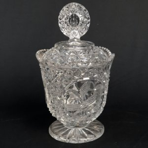 Potiche Baleiro em Cristal Lapidado 21cm