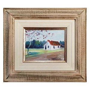 Quadro Pintura a Óleo Casa J. Bonatto 30x27cm