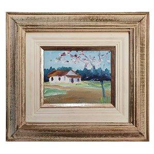 Quadro Pintura a Óleo Casa J. Bonatto 95 30x27cm