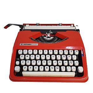 Máquina de Escrever Datilografia Hermes Baby Vermelha