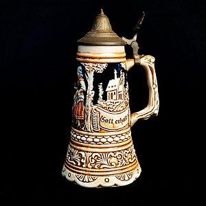 Caneco De Chopp Alemão em Cerâmica Ceramarte