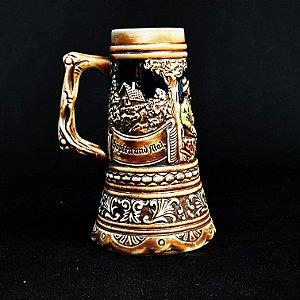 Caneca Chopp Alemã Sem Tampa em Cerâmica Ceramarte