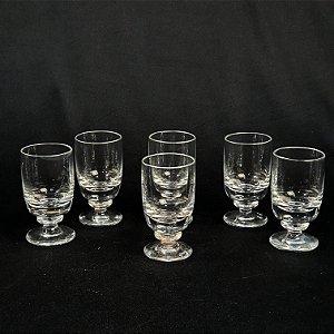 Conjunto 06 Taças Para Licor em Cristal