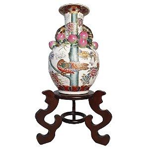 Vaso Em Porcelana Chinesa Pintura Feita a Mão