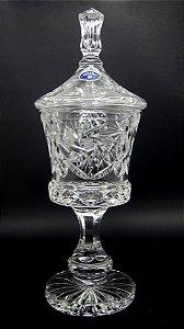 Bomboniere Baleiro em Cristal Bohemia Czech 38 cm