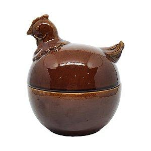 Pote Para Ovos Em Cerâmica Década de 70