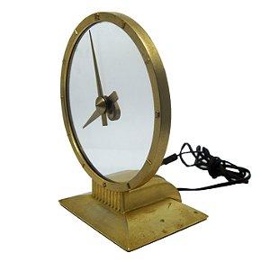 Relógio De Mesa Elétrico Americano Jefferson Golden Secret