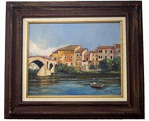 Quadro Pintura a Óleo Santiago de Compostela - Mariano Costa