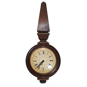 Relógio de Parede em Madeira Maciça Decoração