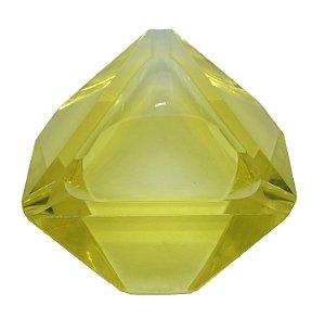 Cinzeiro Em Cristal Amarelo Vintage